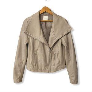 Harper heritage jacket beige-taupe suede feel M